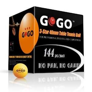 GOGO™ 3 Star 40mm Table Tennis Balls (144 pack), Ping Pong Balls