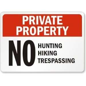 Private Property No Hunting Hiking Trespassing Diamond