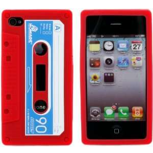 Retro Red Cassette Tape Silicone Super Realistic Flexible
