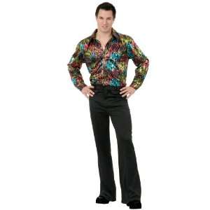 Lets Party By Charades Costumes Black Disco Pants Adult / Black   Size