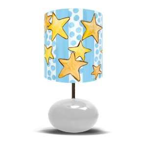 Dots & Stars on White Base w/ Prince Crown Lamp 11x21: Home & Kitchen