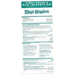 2002 walt disney world Magic Kingdom Times guide Flyer nov