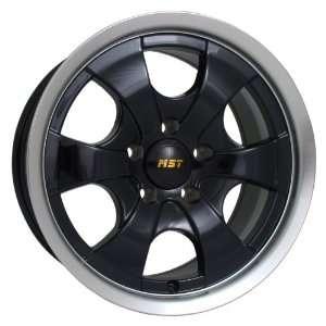 16x8 MST 810 (Gloss Black w/ Machined Lip) Wheels/Rims 6x139.7 (810