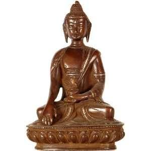 Shakyamuni Buddha in Bhumisparsha Mudra   Brass Sculpture