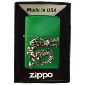 Zippo Custom Lighter   Chinese Fire Breathing Snake S Shaped Dragon