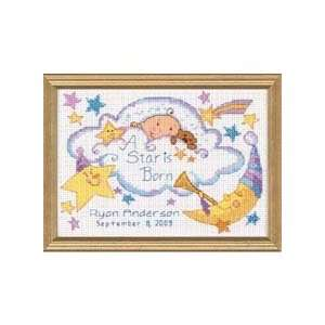 Star Baby Birth Record Counted Cross Stitch Kit Office