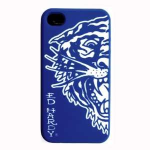 Tiger Apple iPhone 4 Protective Skin Silicone Gel Case Back Cover