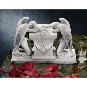 German Lost Love Memorial Angels Bonded Marble Resin