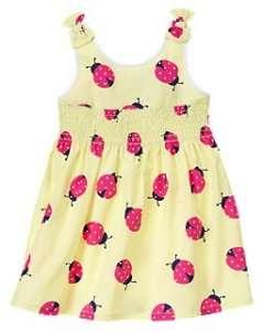 NWT Girls Gymboree Cape Cod Cutie Yellow Lady Bug Dress