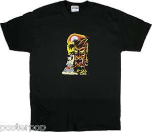 Vince Ray Hula Tiki T Shirt Rockabilly Girl Hawaii XXL
