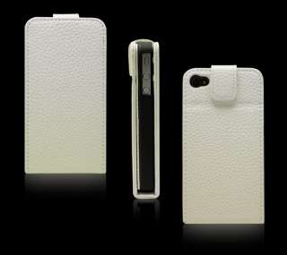 100% Echt Leder Tasche Cover Etui Case f iPhone 4 Yello