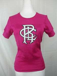 New Womens Ralph Lauren Big Logo Shirt $125 Aruba Pink