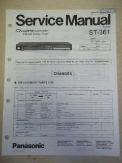 Panasonic/Technics Service Manual~ST 361/ST Z550 Tuner |