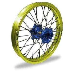 Wheel Pro Wheel 1.60x16 MX Rear Wheel   Yellow Rim/Blue Hub , Color