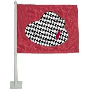 Alabama Crimson Tide Crim Car Flag W/Hat Sports