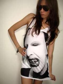 Marilyn Manson Rock Metal Artist Pop Tank Top M