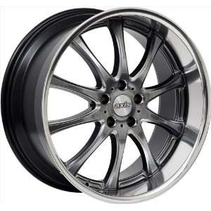 20x8.5 Axis Option (Hyper Black w/ Machine Polished Lip) Wheels/Rims