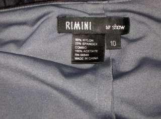 Rimini by Shaw WOMENS BLK EMBELLISHED DRESS FORMAL 10