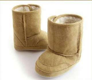 Baby Shoes Fur Winter Boots Toddler Walking Brown 11S