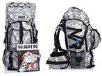 Fashion Grey Canvas Internal Frame Backpacks Hiking Camping Bag