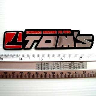TOMS Motor Car Racing Reflect Light Sticker Decal 1x4.75