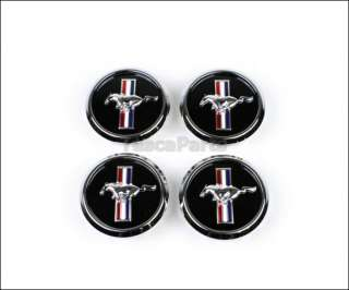 FORD MUSTANG OEM PONY LOGO WHEEL CENTER CAP SET #5R3Z 1130 BA