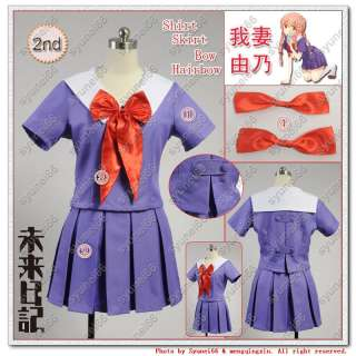 Diary Mirai nikki 2nd Gasai Yuno Cosplay Costume Any Size