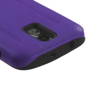 Hybrid Dual Layer Design Purple/Black Snap On Protector Case for (T