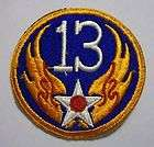 13th AIR FORCE WW2 ERA PATCH ARMY AIR FORCES ORIGINAL PATCHKY12