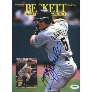 Jeff Bagwell Signed Astros Beckett Magazine Psa/dna
