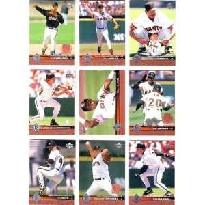 1997 Upper Deck Baseball San Francisco Giants Team Set
