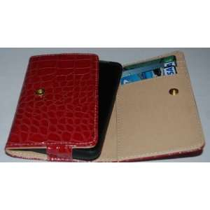 Neewer Universal Red Crocodile Skin FAUX Leather Case