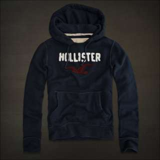 Hollister By Abercrombie Mens Sweat Jacket Hoodie NAVY Authentinc USA