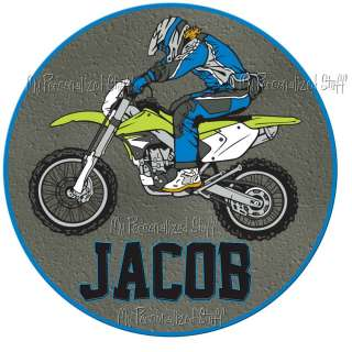 Personalized MOTOCROSS Dirt Bike Boy Name T Shirt Race