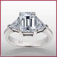 20 Carat Emerald Cut Diamond Engagement Ring H VS1 EGL