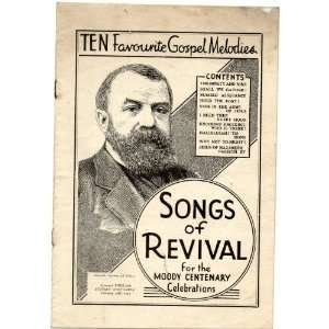 Ten Favourite Gospel Melodies Songs of Revival for the