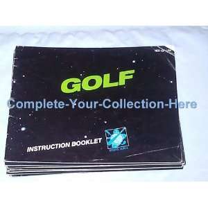 Golf Instruction Booklet Only!! Nintendo Nes: Everything Else