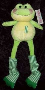 Leg A Long GREEN Yellow Stripe FROG Stuffed PLUSH Striped TOY Legs NWT