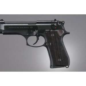 Hogue Beretta 92 Grips Rosewood Checkered Sports