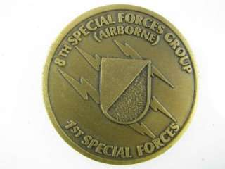 Challenge Coin/ US Army 8th. Special Forces (ABN)  NEW