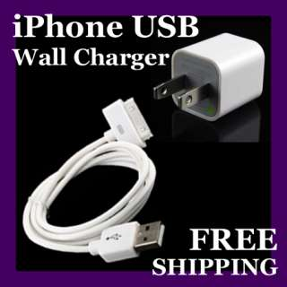 NEW USB Wall Charger Sync cable iTouch iPhone 4 4S 3G iPod