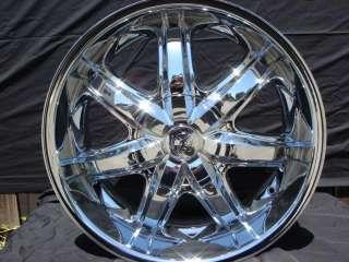 Wheel + Tire Packages 22 inch Triple chrome rims B7