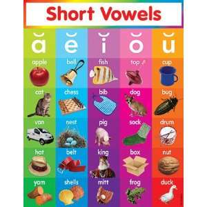 Scholastic Teachers Friend Short Vowels Chart, Multiple