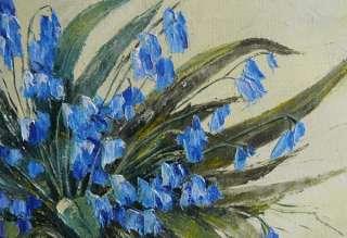 Virbickiene art original oil painting SPRING FLOWERS