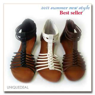 2011Summer NEW WOMEN SHOES ROMAN GLADIATOR FLAT SANDALS