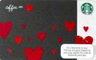STARBUCKS Gift Card Valentines Day COLLECTIBLE NO VALUE 2012