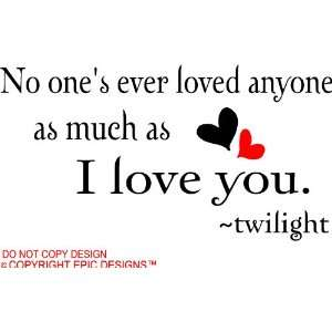 Love  Picture Messages on Love You Twilight Cute Wall Quotes Decals Sayings Vinyl  Home