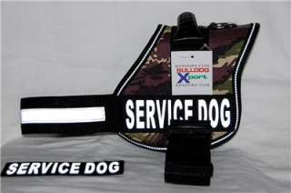 Camo Nylon Training Pulling Harness Large Working THERAPY DOG Boxer