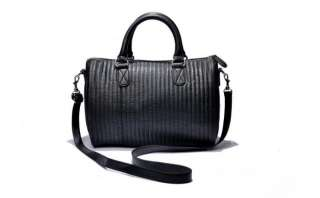 Mango Quilted Faux Leather Black Tote Bag with Removable Strap   Brand