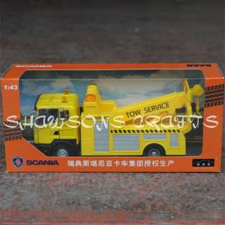DIE CAST 1/43 SCANIA TOW TRUCK WRECKER MODEL REPLICA